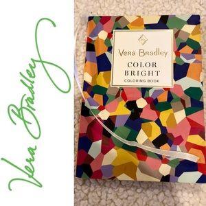 Vera Bradley color bright coloring book NWT 20 pgs